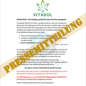 VITADOL Gold Pressemitteilung Foto